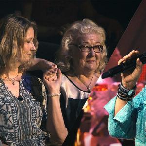 Katri Helena esiintyi Ritvan järjestämässä SuomiLOVE-yllätyksessä.