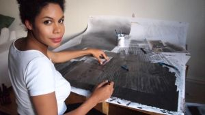Den svensk-kenyanska bildkonstnären Catherine Anyango Grünewald.
