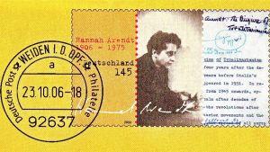 tyskt frimärke av Hannah Arendt