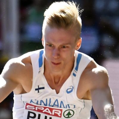 Kristian Pulli hoppar längd, EM 2018.