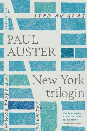 Pärmbild till Paul Austers New York-trilogi.
