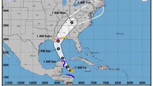 Orkanen Nate väntas ta i land i södra USA på söndag morgon, finsk tid