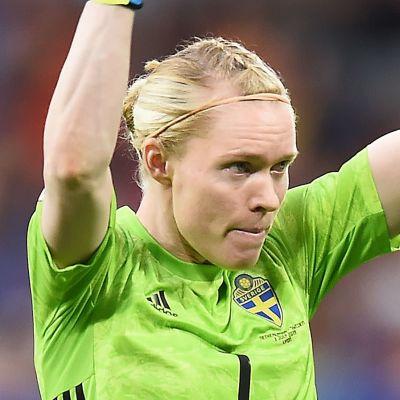 Sveriges Hedvig Lindahl under VM 2019.