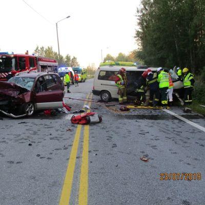 Polisens bild från olycksplatsen.
