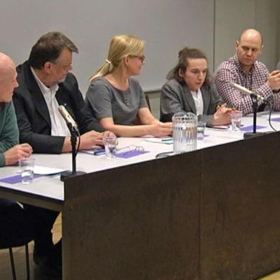 Paneldebatt om rasism i valrörelsen 2015.
