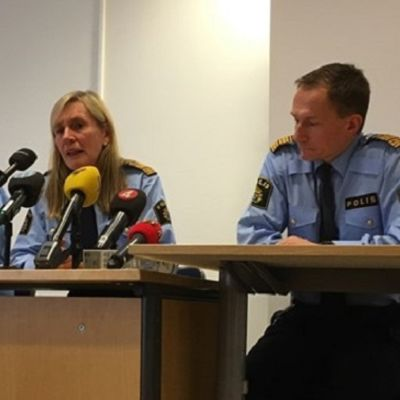 Polisens presskonferens efter skjutningen i Västerås.
