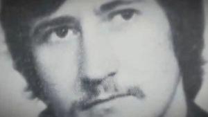 Mustavalkokuva miehestä (virolainen Johannes-Andreas Hanni).