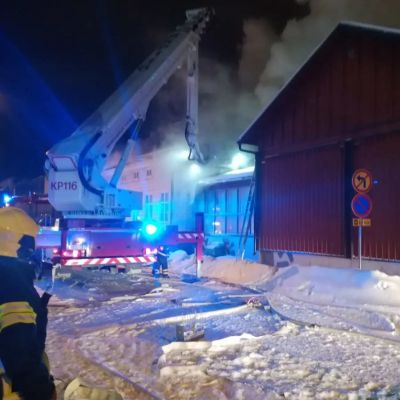 Brand vid naturhistoriska museet Kieppi i Karleby.