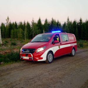 Etelä-Savon pelastuslaitoksen miehistönkuljetusauto.