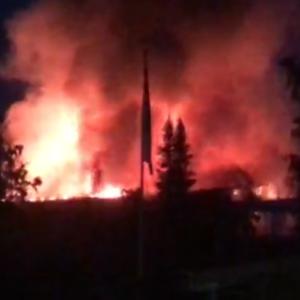Tulipalo Savonlinnassa 26.6.2021.