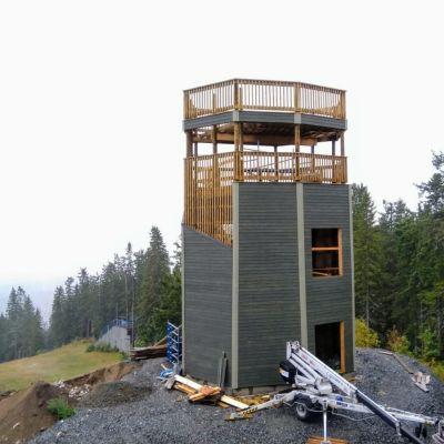 Tahkon valmistuva näköalatorni syksyllä 2019.