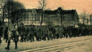 Röda fångar under striderna om  Viborg 1918