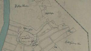 karta över 1600-talets åbo - ritad bild