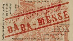 Utställningskatalog av John Heartfield för den första (och enda) internationella Dada-mässan i Berlin 1920