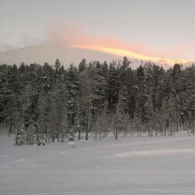 Vintersol över Kesänki.