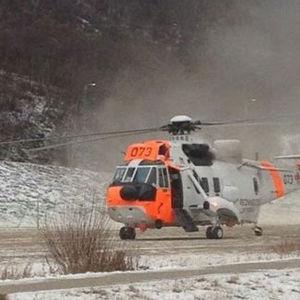 Räddningshelikopter i Utsjoki