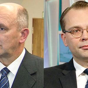 Generallöjtnant Arto Räty och försvarsminister Jussi Niinistö