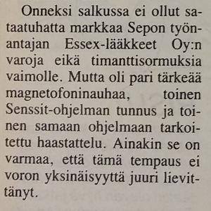 Valokuva Esko Mustosen kirjoittamasta haastattelujutusta Katso-lehteen syyskuussa 1983.