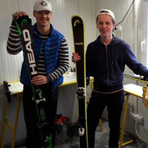 Jesper Baijers och Oscar Westerholm.