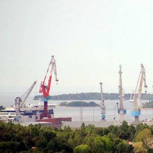 Hamnen i Raumo.