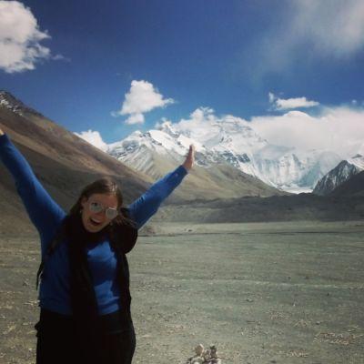 Magdalena Lindroos vid Mount Everest2