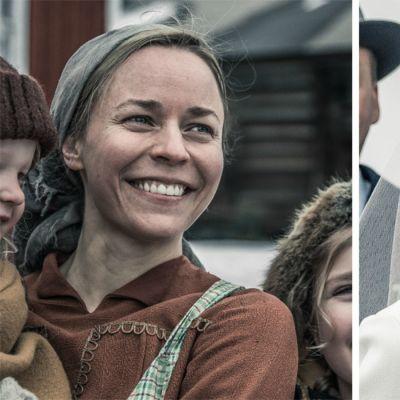 porträtt med Paula Vesala ja Marketta Tikkanen från inspelningen av Okänd soldat.