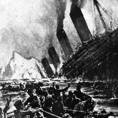 Titanic går under