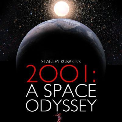 Osa Stanley Kubrickin 2001: Avaruusseikkailu -elokuvan julisteesta.