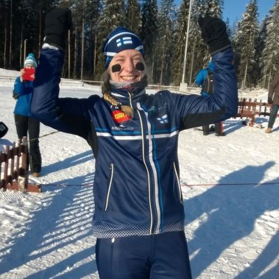 Mirka Suutari firar medalj