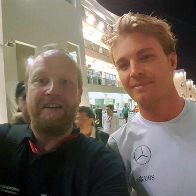 Tony Svartsjö och Nico Rosberg