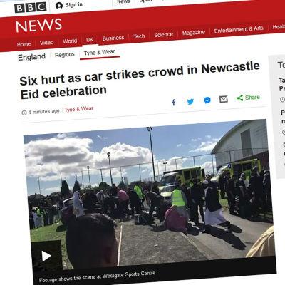 Flera skadades då bil körde in i folkmassa i Newcastle juni 2017