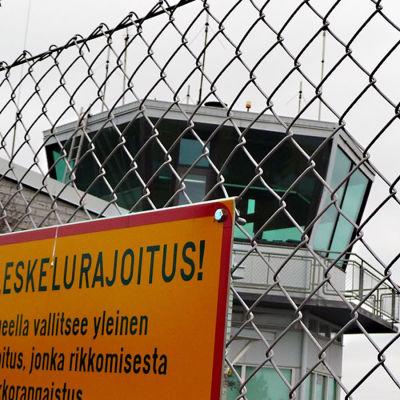 Kontrolltornet vid Karleby-Jakobstad flygplats.