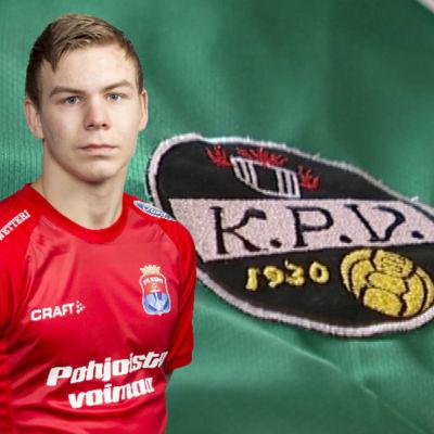 Adam Vidjeskog och KPV:s logo.