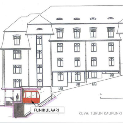 Åbo stads vision av bergbanan i Kakolabacken