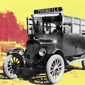 Pakinkylän bussi, vanha kuva