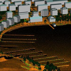 3D mallinnus Lappeenrannan satamasta.