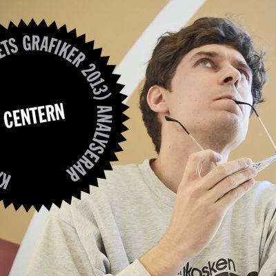 Logo för Kasper Strömmans analys av Centerns webbsida.