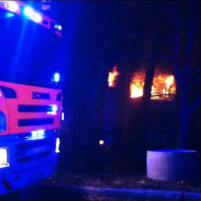Brand i Sockenbacka i Helsingfors.