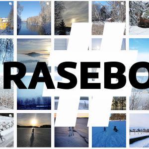 Bildgalleri med skärmdumpar av från Instagram, med några av bidragen till kampanjen Hjärta Raseborg.