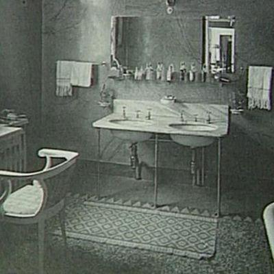 Kuva asunnosta 1900-luvun alusta