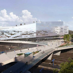 Det vinnande förslaget i arkitekttävlingen.