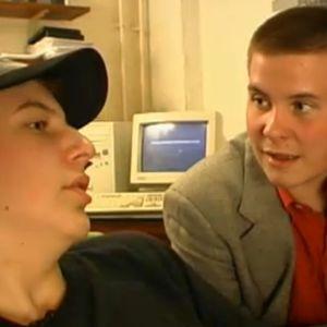 Aku Hirviniemi ja Janne Kataja editissä vuonna 1999.