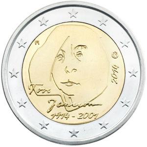 Jansson får ett två euros specialmynt