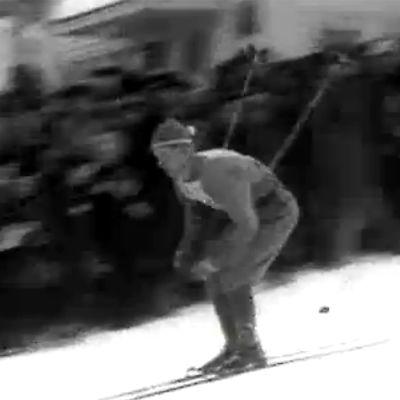 Miesten pikamatkan kilpailu Salpausselällä vuonna (1950).
