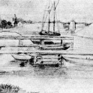Pargas vd sekelskiftet 1800-1900, en skiss av Dora Wahlroos