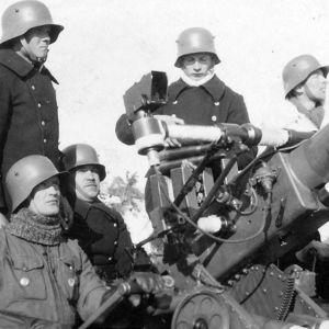 Pargas Kalk hade egna luftvärnskanoner under krigen