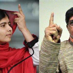 Malala Yousafzai och Kailash Satyarthi 2014 pristagare av Nobels fredspris.