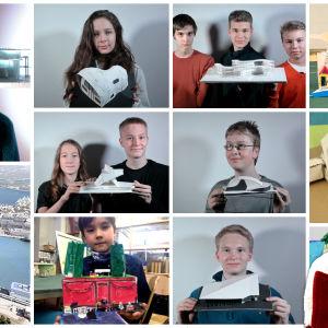 Arkkitehtuurikoulu Arkin lapset ja nuoret suunnittelivat joulupukille virka-asunnon Eteläsatamaan