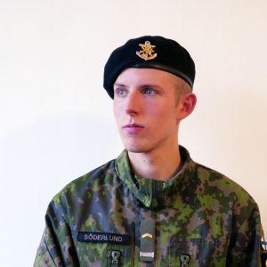 Beväringen Joel Söderlund.