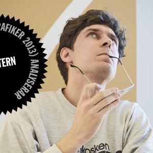 Logo för Kasper Strömmans analys av Vänsterförbundets webbsida i samband med riksdagsvalet 2015.